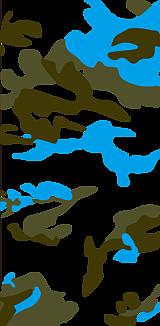 ブルーxカモフラ