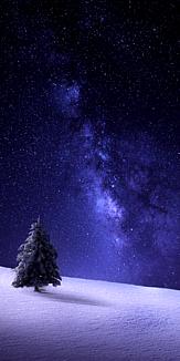 星空 雪 冬 ケース