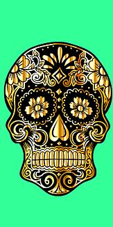 ドクロ メキシコ 緑
