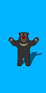 仁王立ちクマさん ブルー