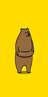クマ ケース イエロー