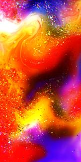 幻想的な世界。抽象画スマホケース10