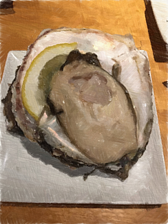 牡蠣〜油絵バージョン