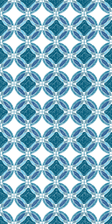 青い万華鏡