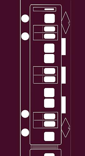 あずき色の電車2(架線・線路あり)