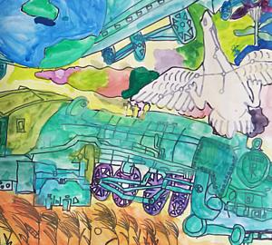 鉄道と白鳥座