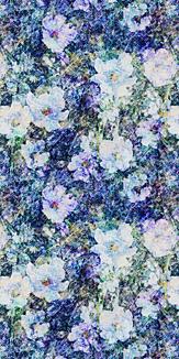 青い花が咲いてる