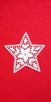 星のレースモチーフ(赤)スマホケース
