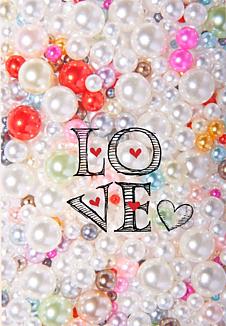 LOVE(カラフルパール)
