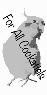 オカメインコ モノクロケースフレーム タイプC