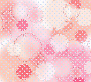 和風手帳タイプ/雪輪模様とドット*オレンジ