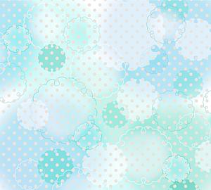 和風手帳タイプ/雪輪模様とドット*ブルー