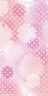 雪輪とドット/ケースタイプ*ピンク