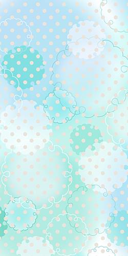 雪輪とドット/ケースタイプ*ブルー