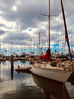 ハワイ☆ワイキキのマリーナと船
