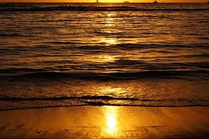 ハワイ☆ワイキキビーチのサンセット