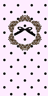 レトロドット リボンiPhoneケース