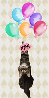 ねこと風船<Nyan>