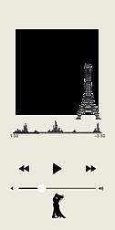 音楽再生画面風「エッフェル塔」フレーム