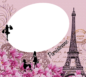パリジェンヌとエッフェル塔