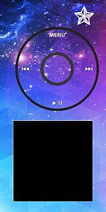 音楽再生画面風 星空フレーム