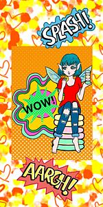 アメコミ風 マカロンの妖精