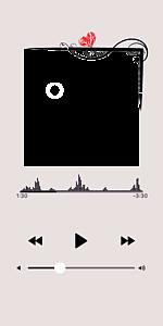 音楽再生画面風「エレガント・ハート」フレーム