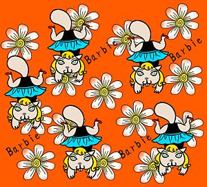 ビーバーのバービーちゃんと お花