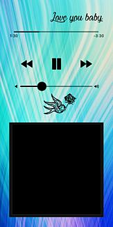 音楽再生画面風「小鳥と薔薇」