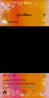 インスタ画面風 オレンジハート