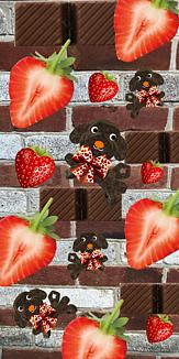 いちごと チョコレートな犬ちょこぷ