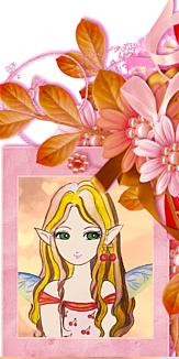 妖精の女の子 サクランボのイヤーカフ