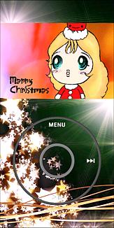 音楽再生画面風 クリスマスケース