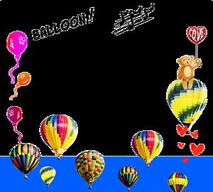 熱気球 バルーンうきうきフレーム