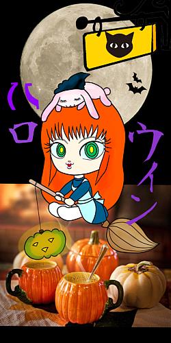 ウサギを被った女の子 ハロウィン