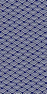 小紋 青海波 《紺》Ⅰ