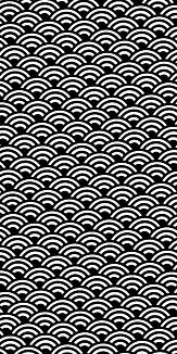 小紋 青海波 《黒》Ⅰ