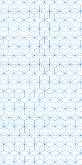 小紋 麻の葉 《青》