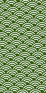 小紋 青海波 《緑》Ⅱ