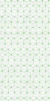 小紋 麻の葉 《緑》