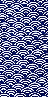 小紋 青海波 《紺》Ⅱ