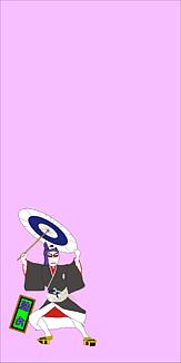 歌舞伎「助六」ワンポイント(ピンク)