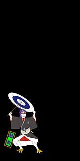 歌舞伎「助六」ワンポイント(ブラック)