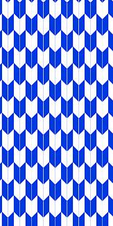 小紋 矢絣(青)