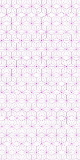 小紋 麻の葉 《紫》