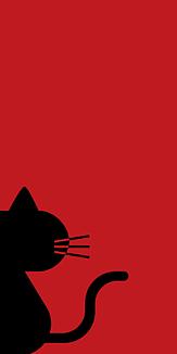 no.003_覗き見る黒猫(レッド)透過処理あり