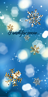 I wish for snow (雪の結晶)