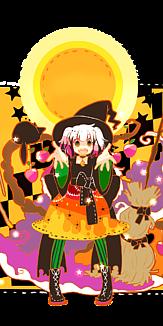ハロウィン魔女(透明)