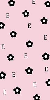 デイジー柄とイニシャル E