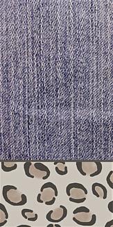 デニム × レオパード